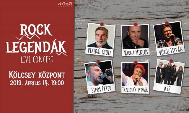 Rocklegendák LIVE! - Debrecen - Kölcsey Központ
